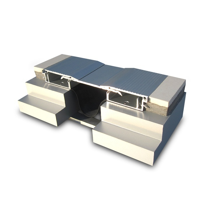 Expansion Joint Covers : Block out aluminum expansion joint covers in floor view