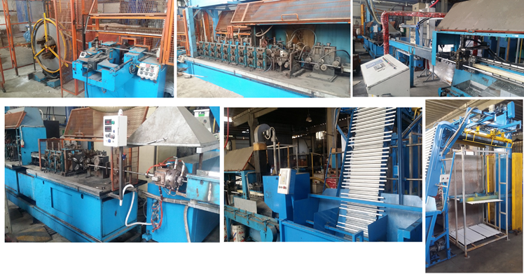 metal broom handles machinery with complete cutting line and extruder
