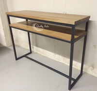 Metallic and Wooden School Table With Shelf