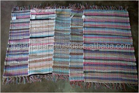 best selling multi paper chindi rugs stock lot