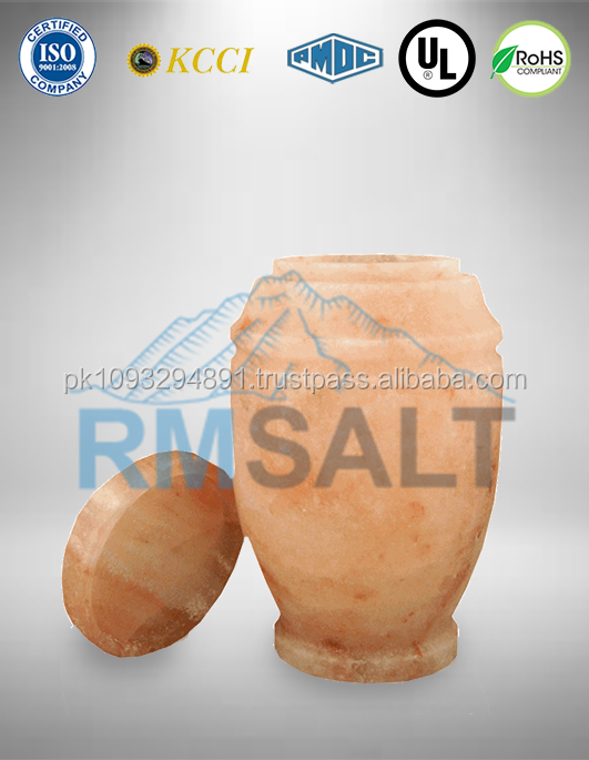 Himalayan Rock Salt Biodegradable Urns - Round Shape