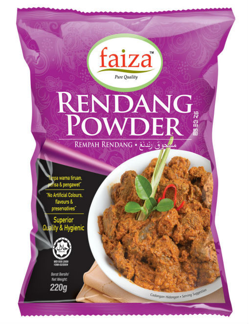 Rendang Powder, malay rendang, malaysian food, malay food, halal food, halal product, meat readang, chicken rendang