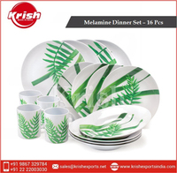 Melamine Dinner Set - Woodside - 16 Pcs
