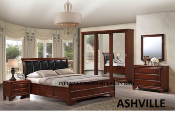 Solid Rubber Wood Malaysia Bedroom Set Bed Mirror Wardrobe Night Stand Buy Malaysia Wood