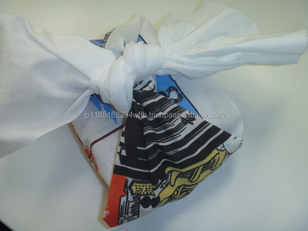 Japanese Traditional Cloth for Airline Food Container Value Set