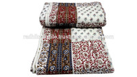 RTHKQ-5 Multi Patchwork kantha Quilt For Winter Usable Jaipuri Razai Manufacturers