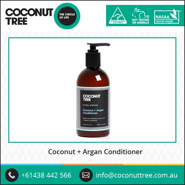 Natural Mineral Containing Organic Coconut and Argan Hair Conditioner for Wholesale
