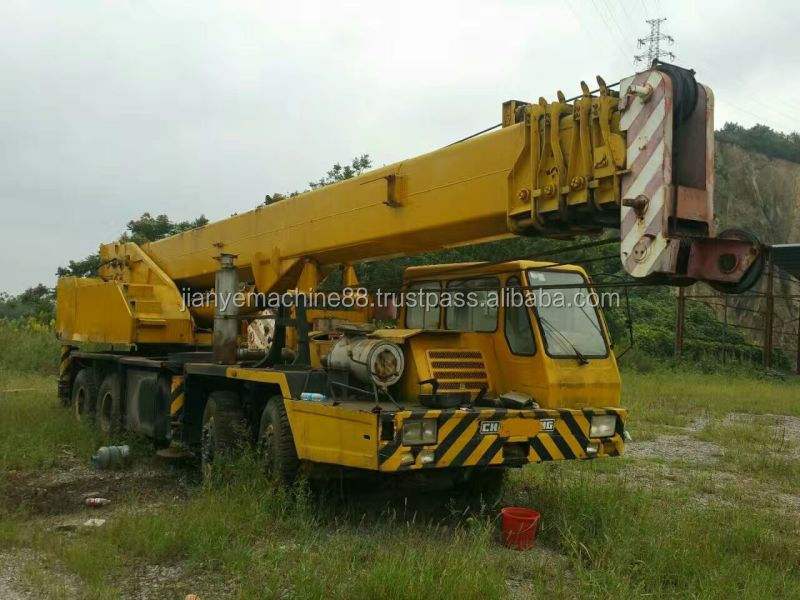low price used cranes used china crane used Changjiang truck crane QY50B 2004y model for sale