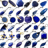 Lapis Lazuli Gemstone Top Grade A+ AAAA AAA High Quality Connectors Pendants
