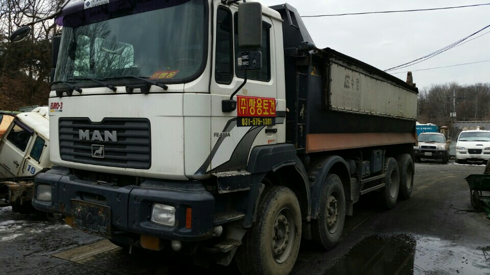 Urgent SALE 2002Y USED MAN DUMP TIPPER TRUCK 25TON 410HP Urgent SALE IN KoREA