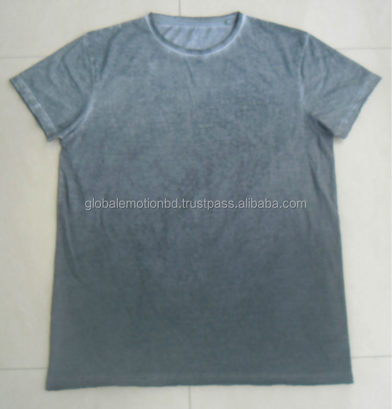 MENS RAW CUT GARMENTS DYED SOLID T-SHIRTS