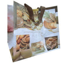 recycled laminated pp woven folding cheap custom shopping plastic bags