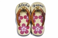 Hawaiian Slipper Magnet with Design