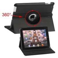 360 Degree Rotatable Leather Case Cover with Stand for iPad 4/3
