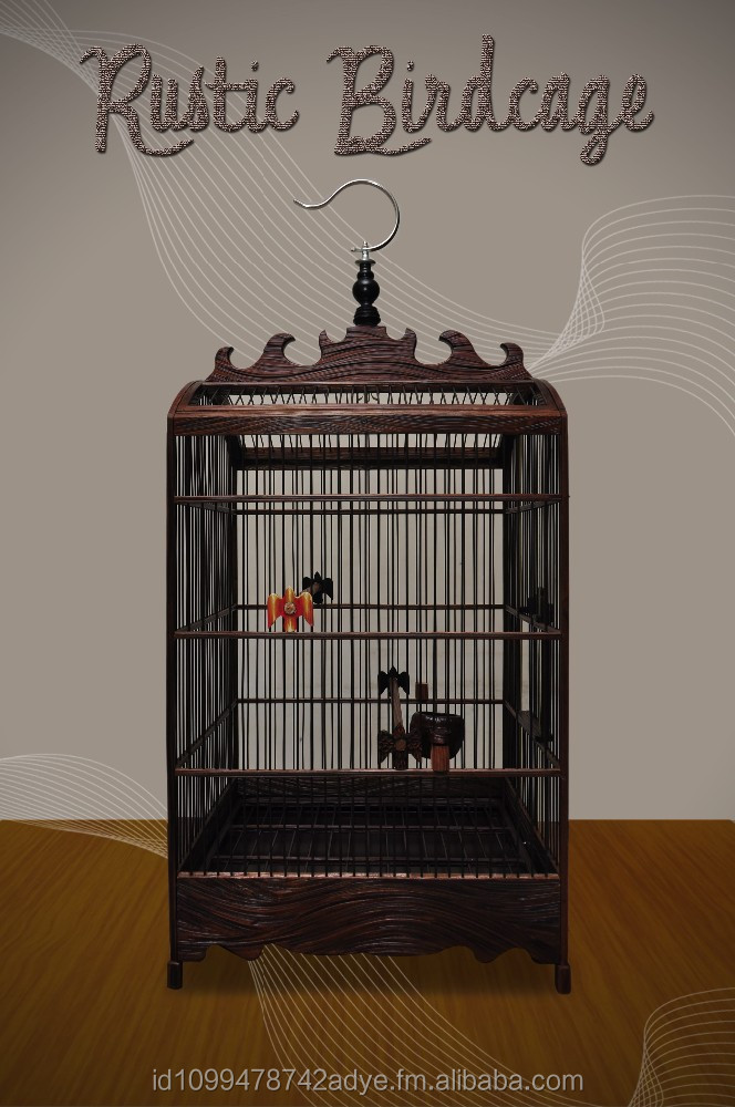 Knockdown wooden birdcage