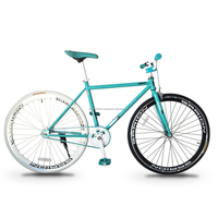 Garion 700C Fixie Fixed Gear Bike Turquoise with White