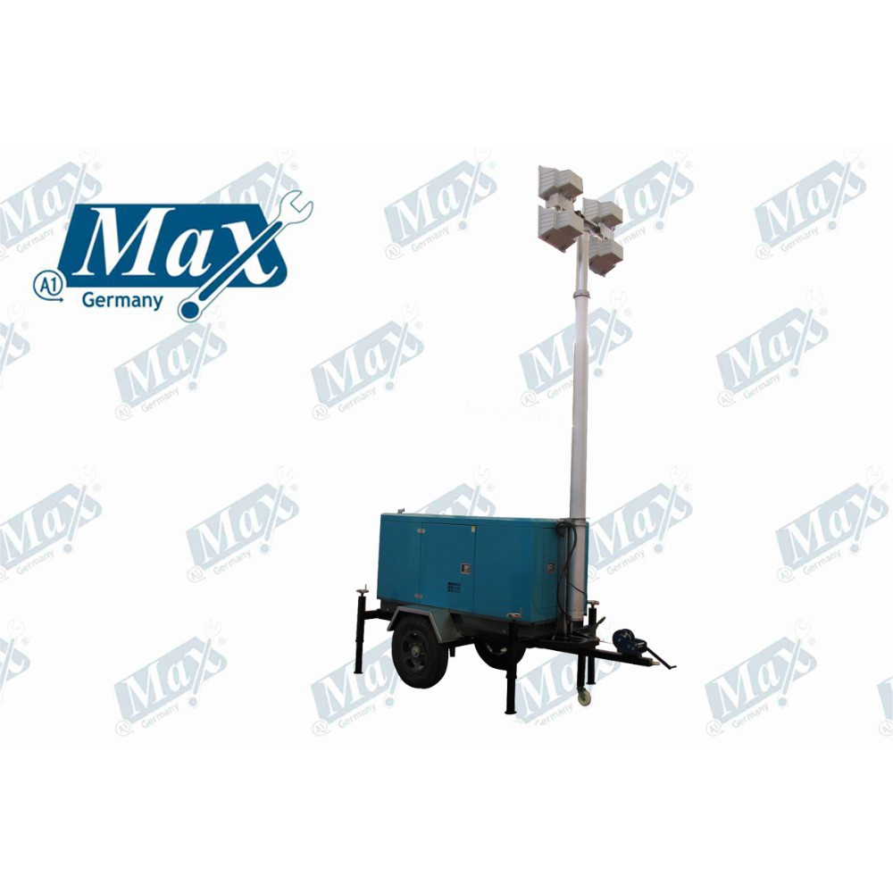 Outdoor Mobile Lighting with Pneumatic Elevation