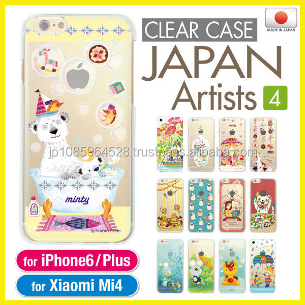 Cute and colorful original smartphone clear case for phone