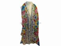 Wholesale TOP Women Summer Scarf Big Flower Printed 100% viscose Scarf Scraves