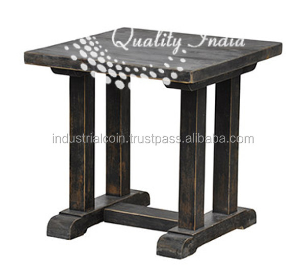Wooden Pillar Like Legs Stool
