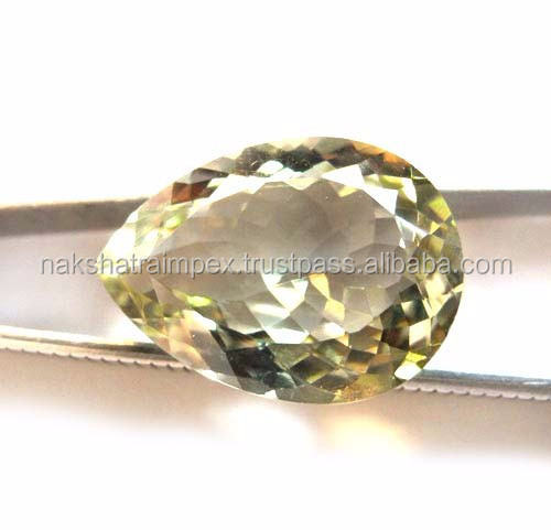 Natural Green Amethyst 10x14mm Pear Cut Loose Gemstone