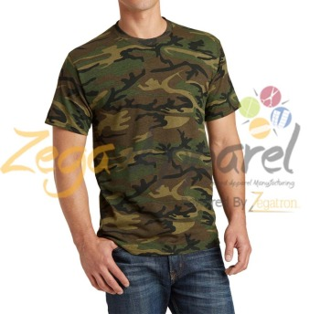 Zega Apparel cotton t-shirt camouflage wholesale t shirt for men