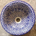 Moroccan painted ceramic sink