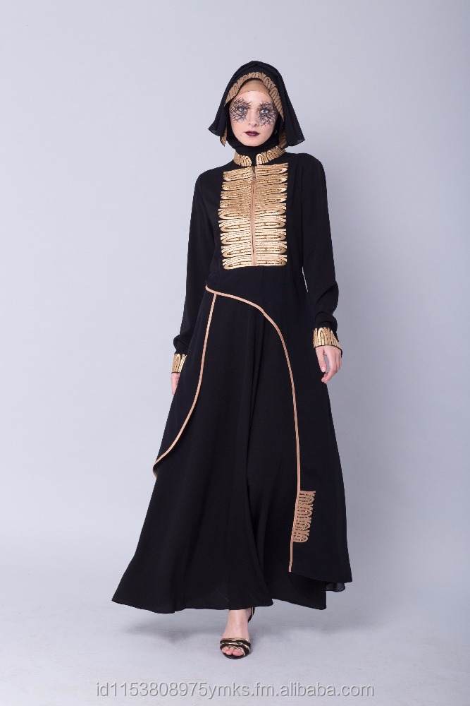 HIKMAT Abaya with High Quality Rhinestone with Embroidery, Bring you elegant, exclusive look. We use high quality Accessories