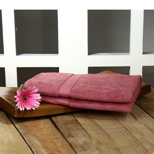 Trident Home Essentials 100% Cotton Carded Solid Dyed Terry Bath Towel 75 cms x 1.5 m 400 GSM