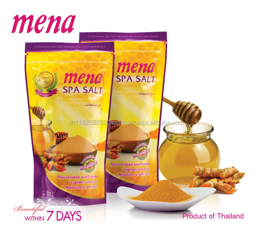 Mena Spa Salt Curcumin & Honey