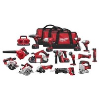 NEW Milwaukee m18 18v li-ion 15-tool combo kit 2695-15