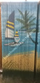 Super installation bamboo beads curtain painted sail