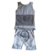 S-SHAPER 2016 New Men Tourmaline Bamboo Charcoal Bodysuits 2 In 1 Top & Pant Far Infrared Underwear