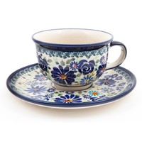 Polish Pottery Boleslawiec Hand Decorated Soup Cup