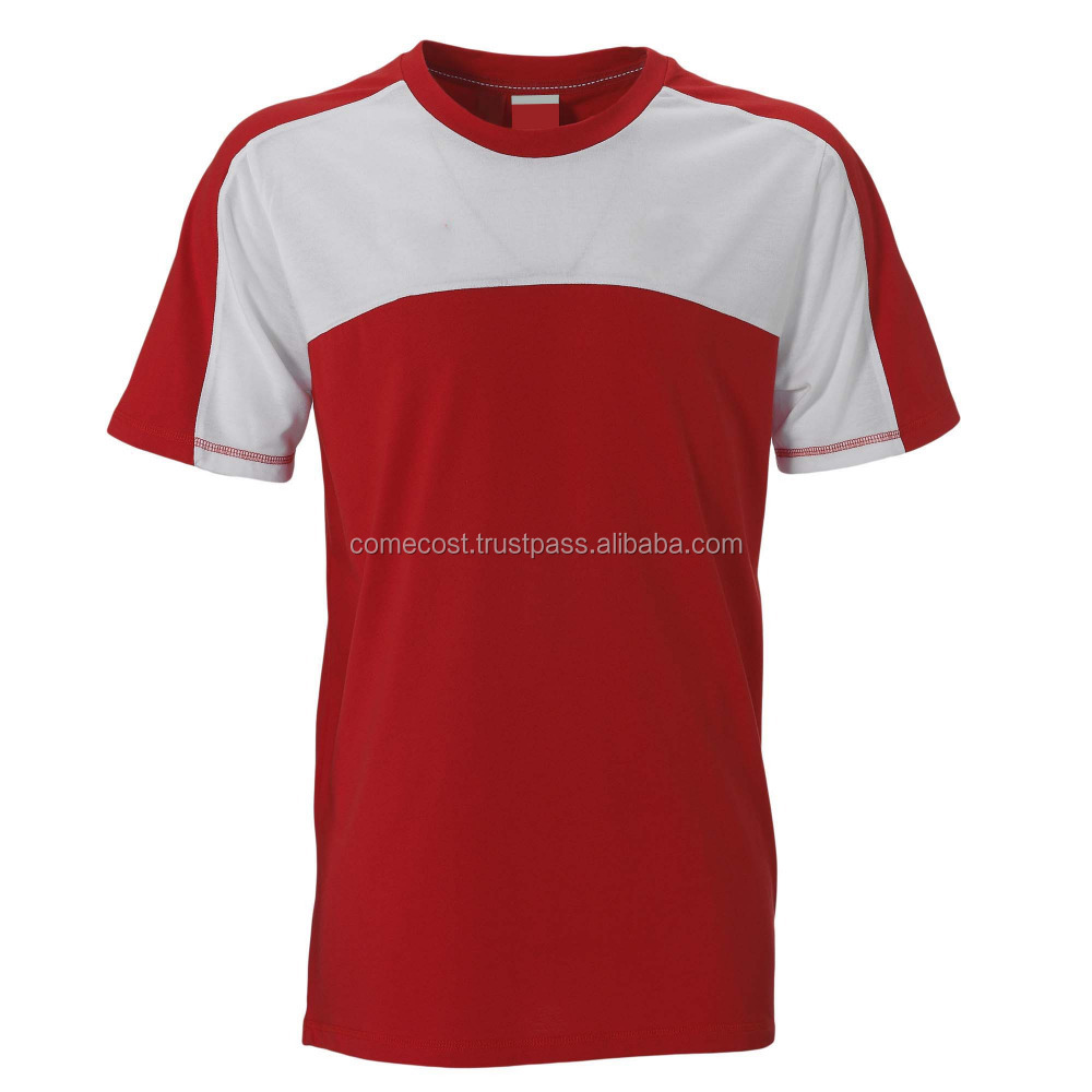 Red white high quality t-shirt