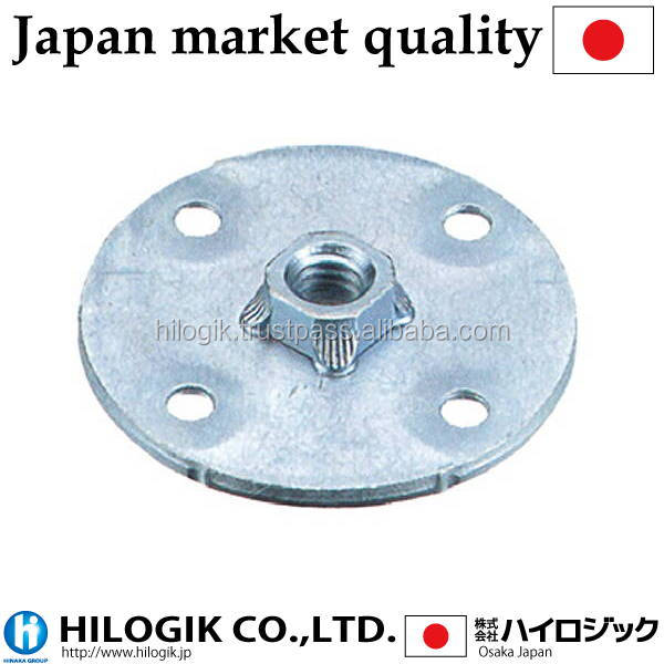 Precious wheel caster plate M12 (P1.25)mm Path 50 2mm in thickness