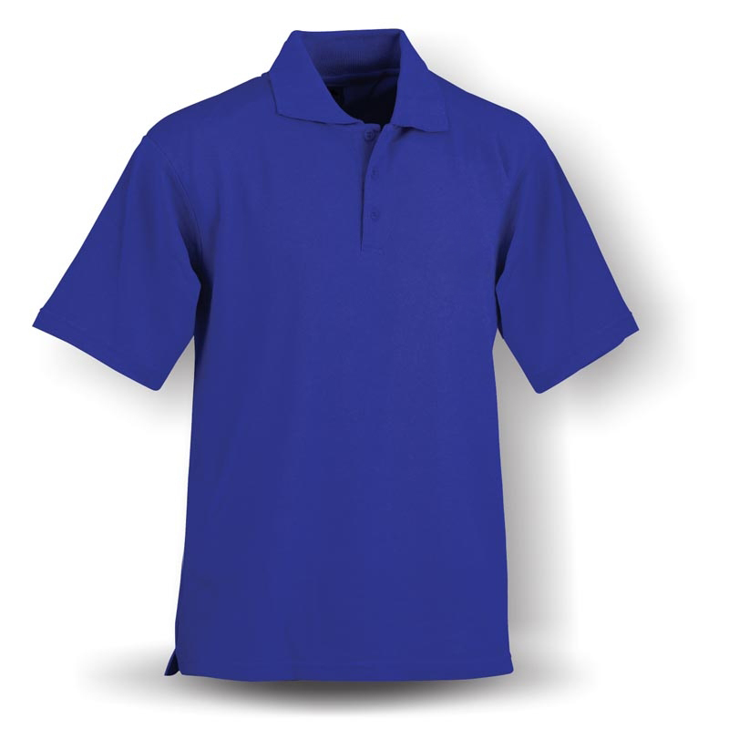 Blue polo shirt 100%cotton breathable polo t shirt for men