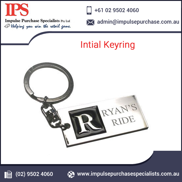 Wholesales Customized Promotional Intial Keyring