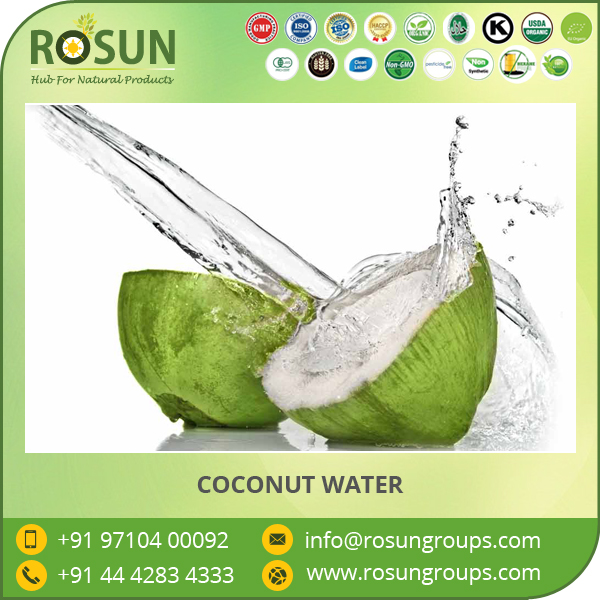 100% Pure Coconut Water from ISO Certified Company