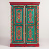 Antique Handpainted Wooden Almirah Design