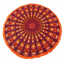 Indian Mandala Round /Roundie Beach Throw Tapestry Hippy Boho Gypsy Cotton Tablecloth Beach Towel / Round