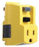 Single Outlet GFCI Adapter 15 Amps 120V
