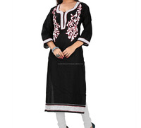 low quantity chip price made in jaipuri machine work Wholesale Indian Ladies Kurtis