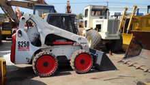 Used condition skid steer loader Bobcat S250, Used Bobcat S250 mini skid steer loader for sale
