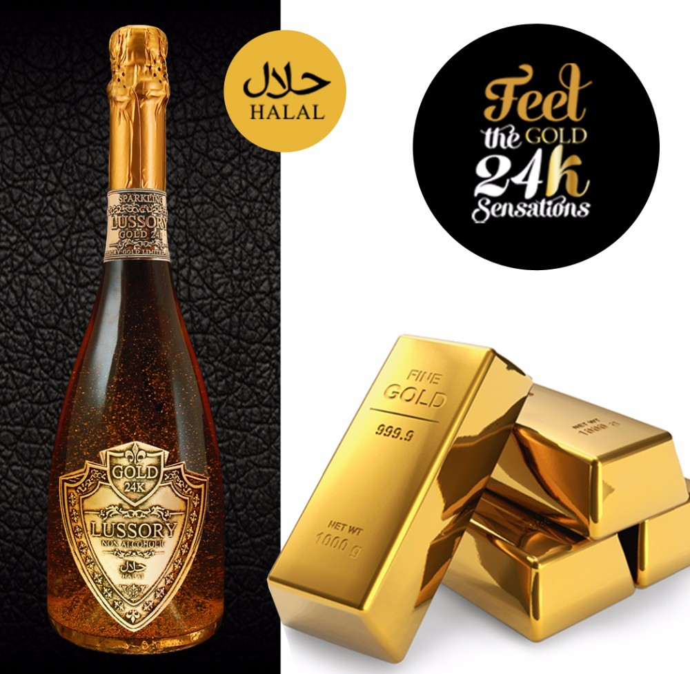 LUSSORY GOLD ALCOHOL REMOVED HALAL WINE SPARKLING