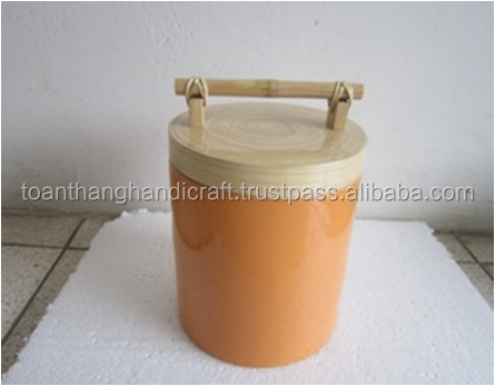 Best selling unique tall bamboo box for food container in Restaurant
