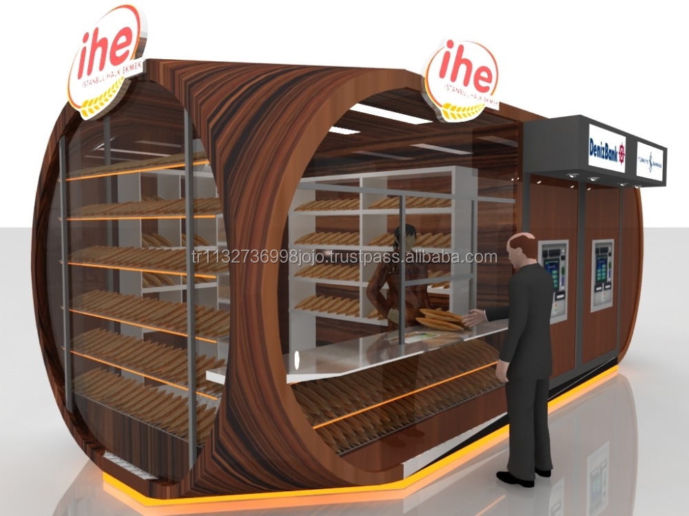 IHE XL Wooden Optic Fast Food Kiosk and Ice Cream Bar Bakery Store Info Cooth Guardhouse sentry Street Food Kiosk