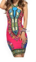 Women Traditional African Print Dress Backless Party Dresses New 2015 Women Summer Sexy Club Pencil Dress /latest africaa piece.