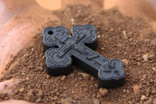 Greek & Russian Orthodox Jerusalem Soil Crucifix