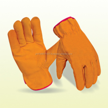 Cow Grain Truck Leather Driver Gloves